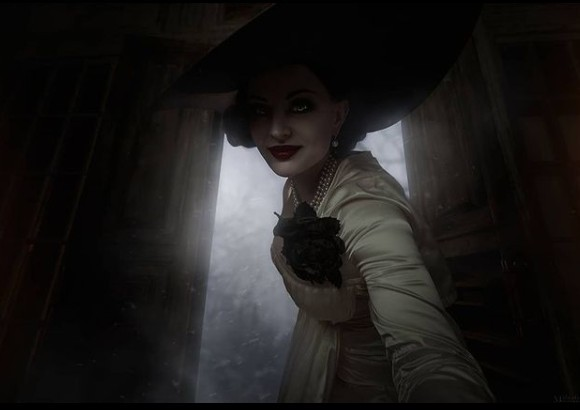 俄罗斯COSER展示《生化危机8》吸血鬼夫人COS照 华贵美艳惟妙惟肖