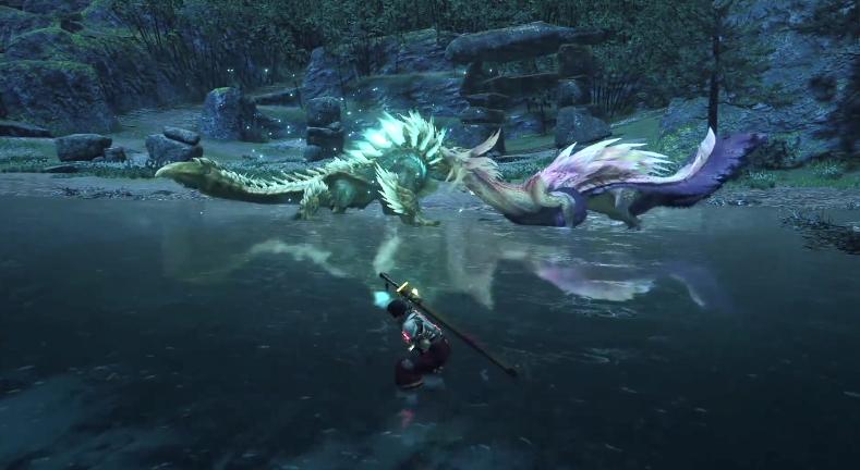 《怪物猎人:崛起》全领地争夺战影像 怪物互相殴打