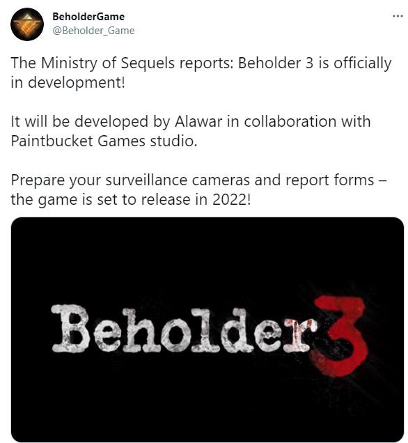 《旁观者3》正式公开 2022年上市