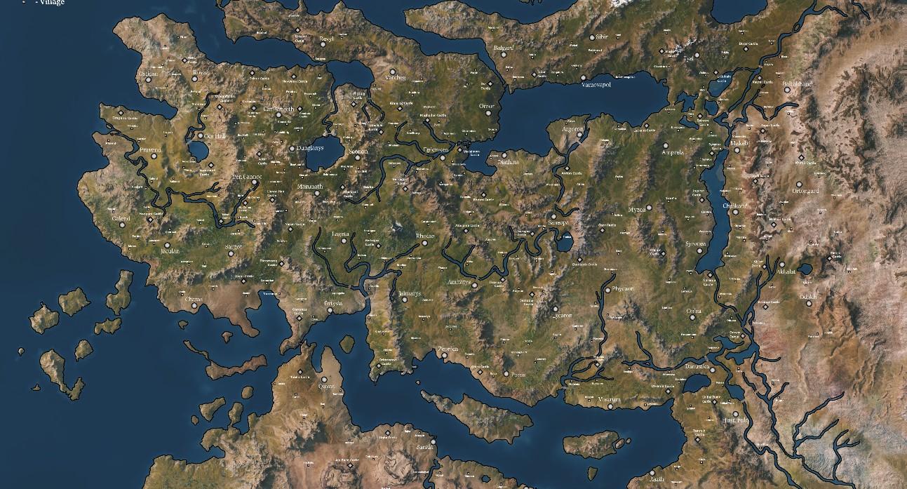 《Wallpaper Engine》卡拉迪亚大陆地图动态壁纸