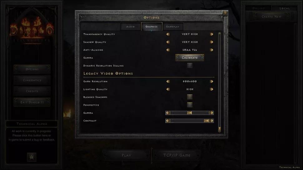 《暗黑破坏神2:重制版》画面设置细节曝光 很贴心