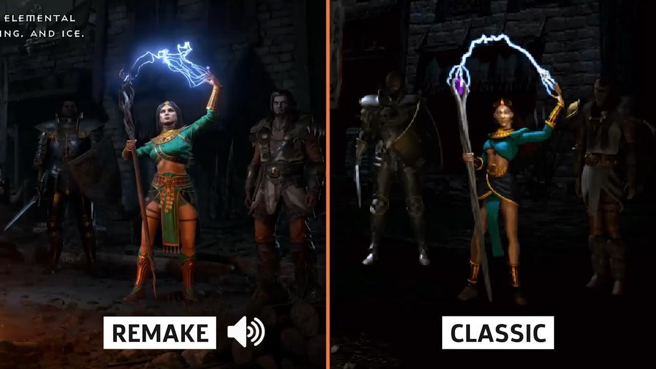 《暗黑破坏神2:重制版》与原版对比视频 画面提升显著