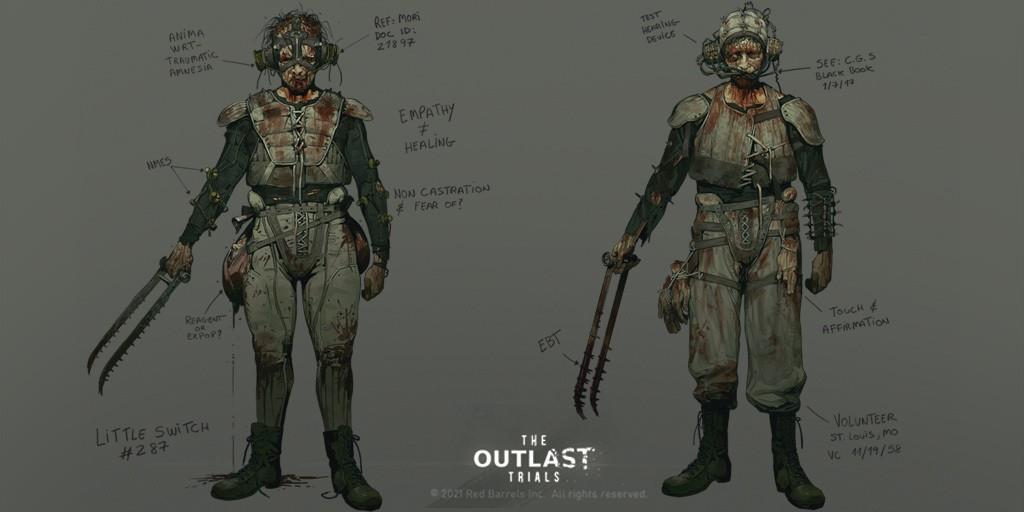 第一人称心理恐怖游戏《逃生:试验》敌人概念图公开