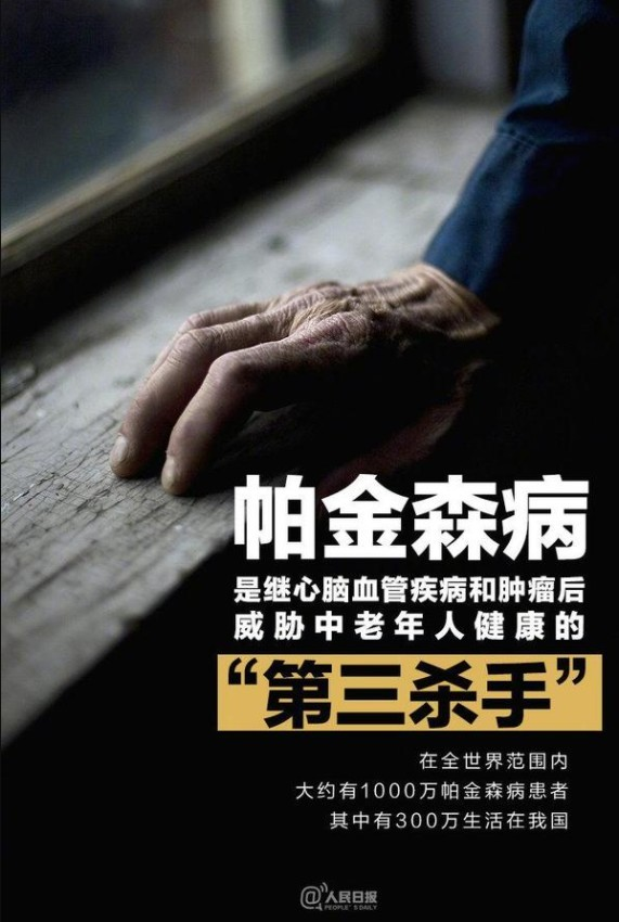 年轻人也可能得帕金森病 中国患者超300万占世界3/1