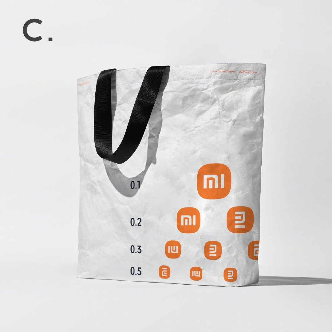 小米推出三款限量环保袋,印有新Logo制作的视力表