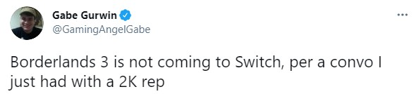 辟谣!官方确认《无主之地3》暂无登陆Switch计划