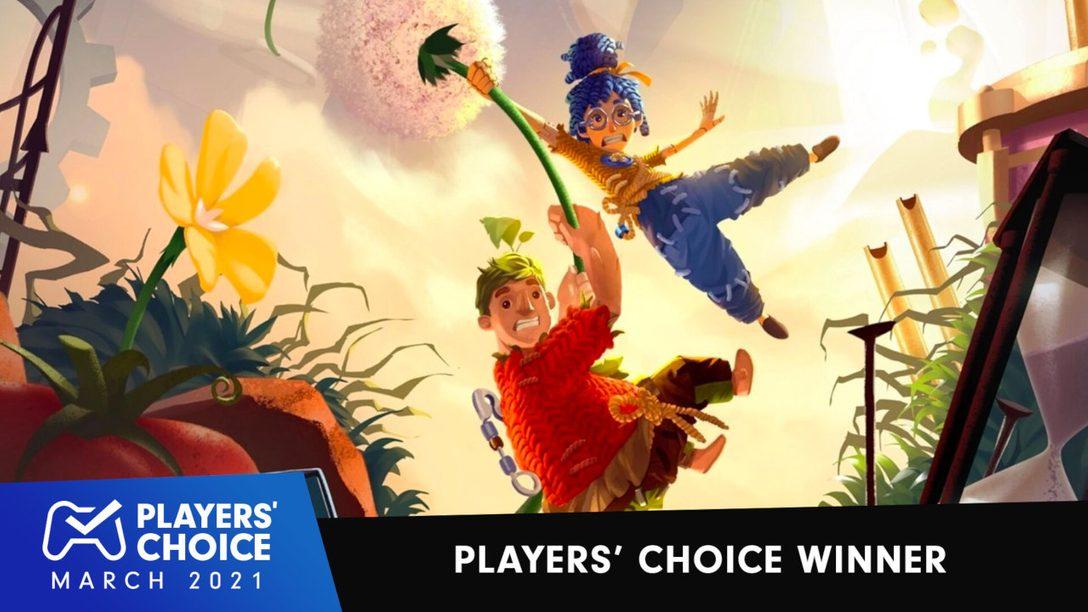 《双人成行》被索尼玩家选为3月最佳游戏