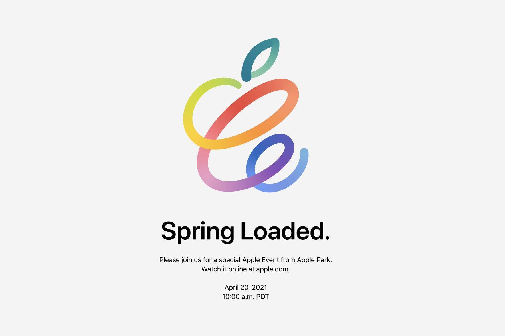苹果官宣:4月21日凌晨1点举办春季发布会