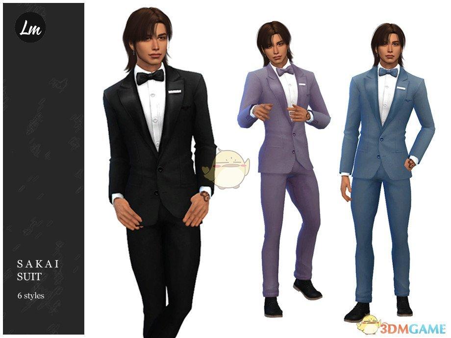 《模拟人生4》男性的帅气西服MOD