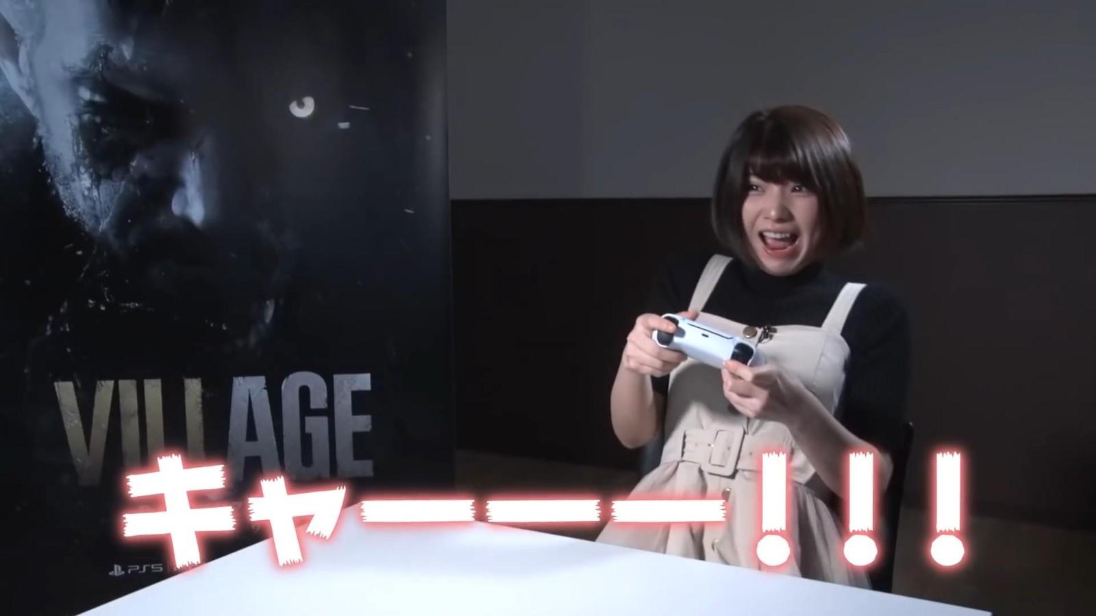 美女Enako试玩《生化危机8》新Demo 吓得惊声尖叫
