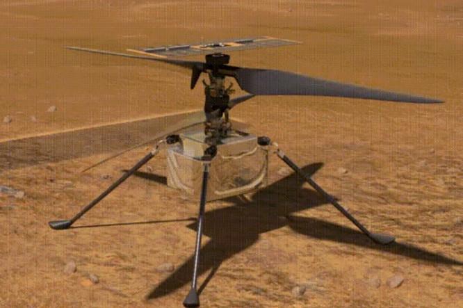 """美国""""机智""""号火星直升机已经完成首飞"""