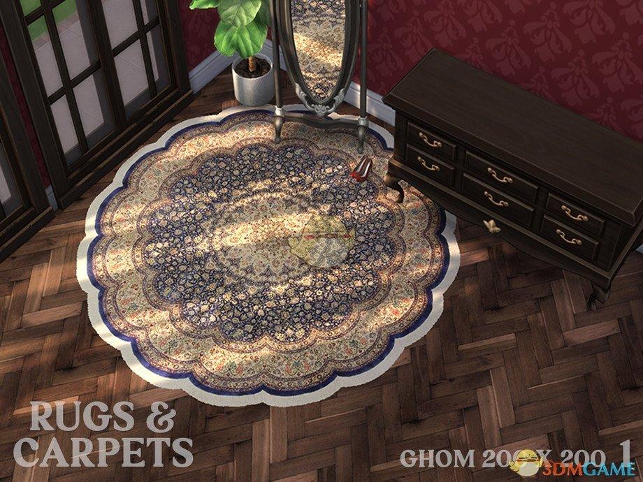 《模拟人生4》伊朗风格圆形地毯MOD