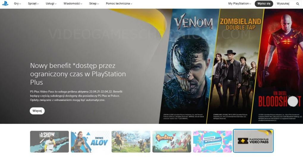 索尼PlayStation Plus Video Pass服务曝光