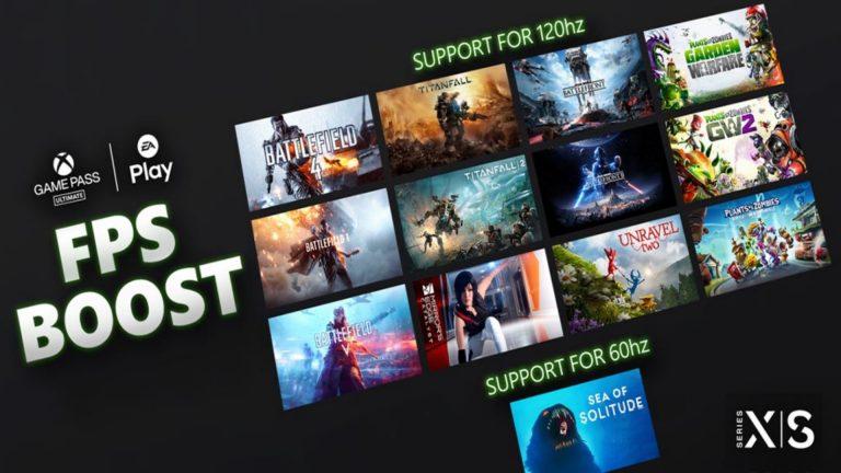 EA 13款游戏更新 在XSX上现已支持FPS Boost功能