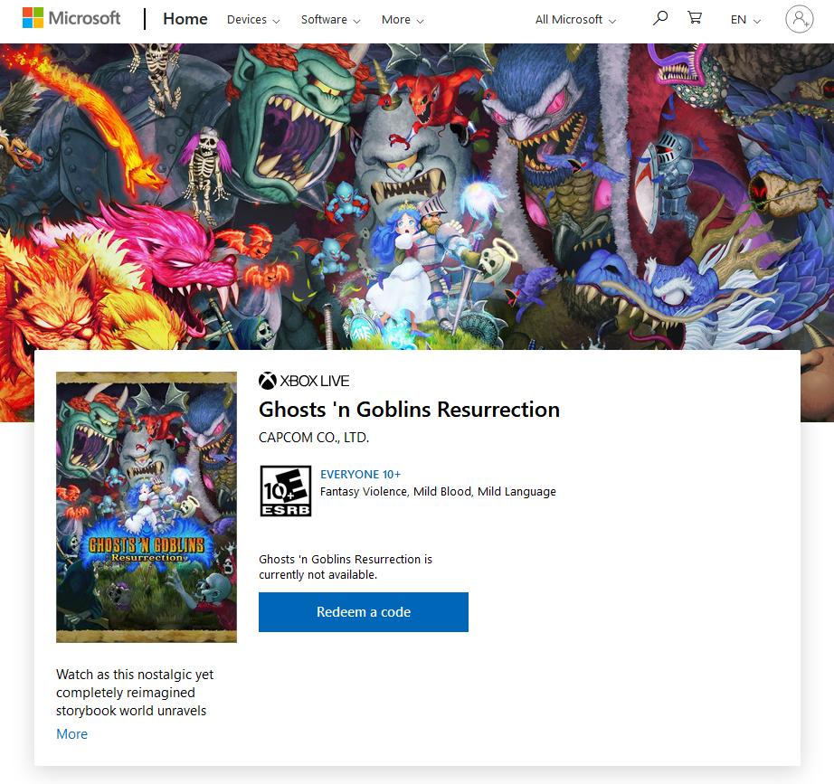 《经典回归 魔界村》预计6月1日登陆PS4、Xbox One与PC