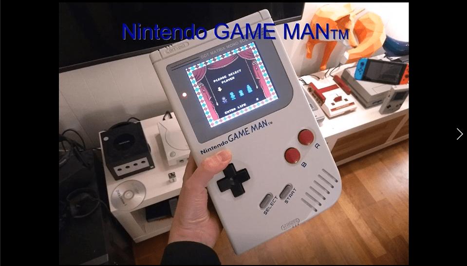外国玩家自制巨型Game Boy游戏机,还能连电视