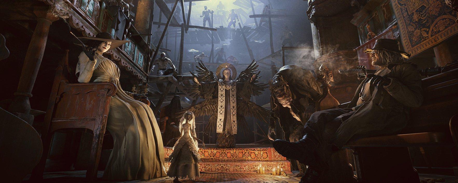 《生化危机8村庄》母神米兰达与领主设定图公布