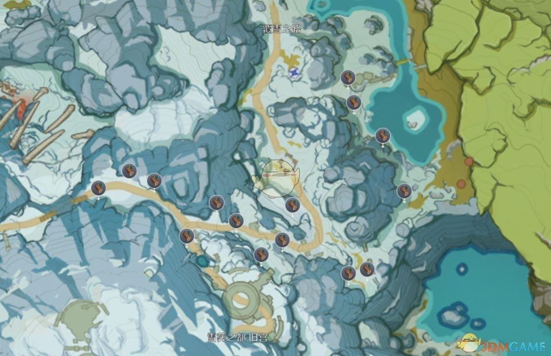 《原神》松木分布图及快速收集指南