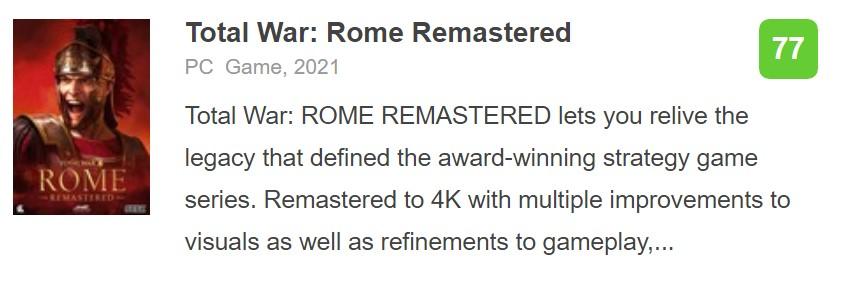 《全面战争:罗马》重制版IGN 7分:现代化后对老玩家不友好