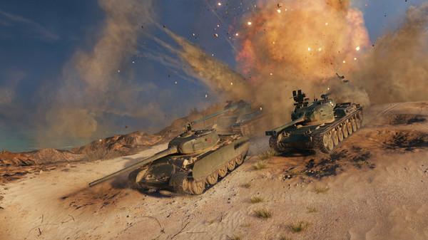 大型多人在线游戏《坦克世界》今日正式登陆Steam