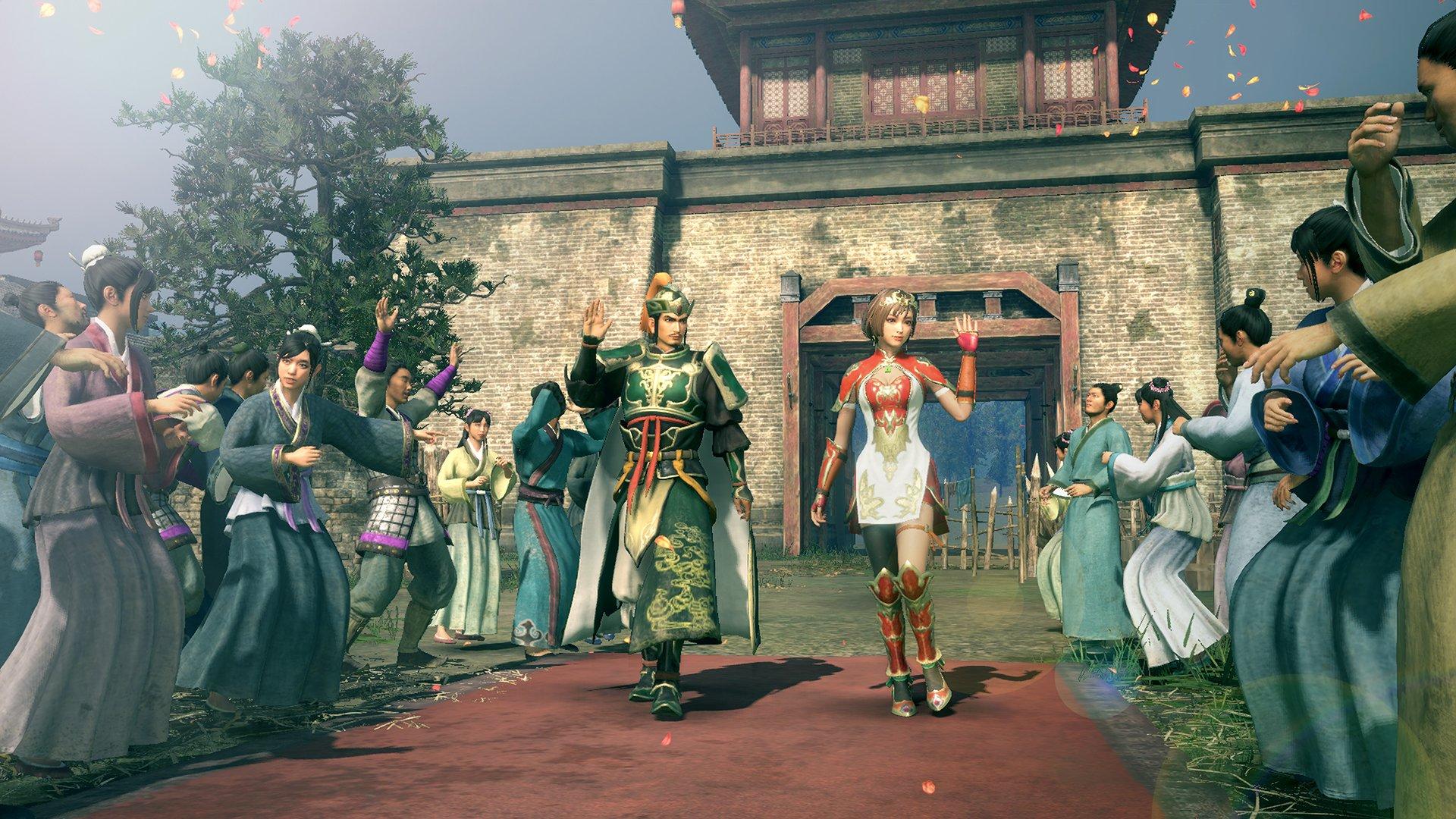 《真三国无双8帝国》新截图:刘备和孙尚香同屏!