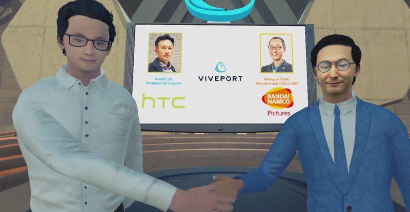 HTC与万代合作发展日本VR动画 将改编知名IP