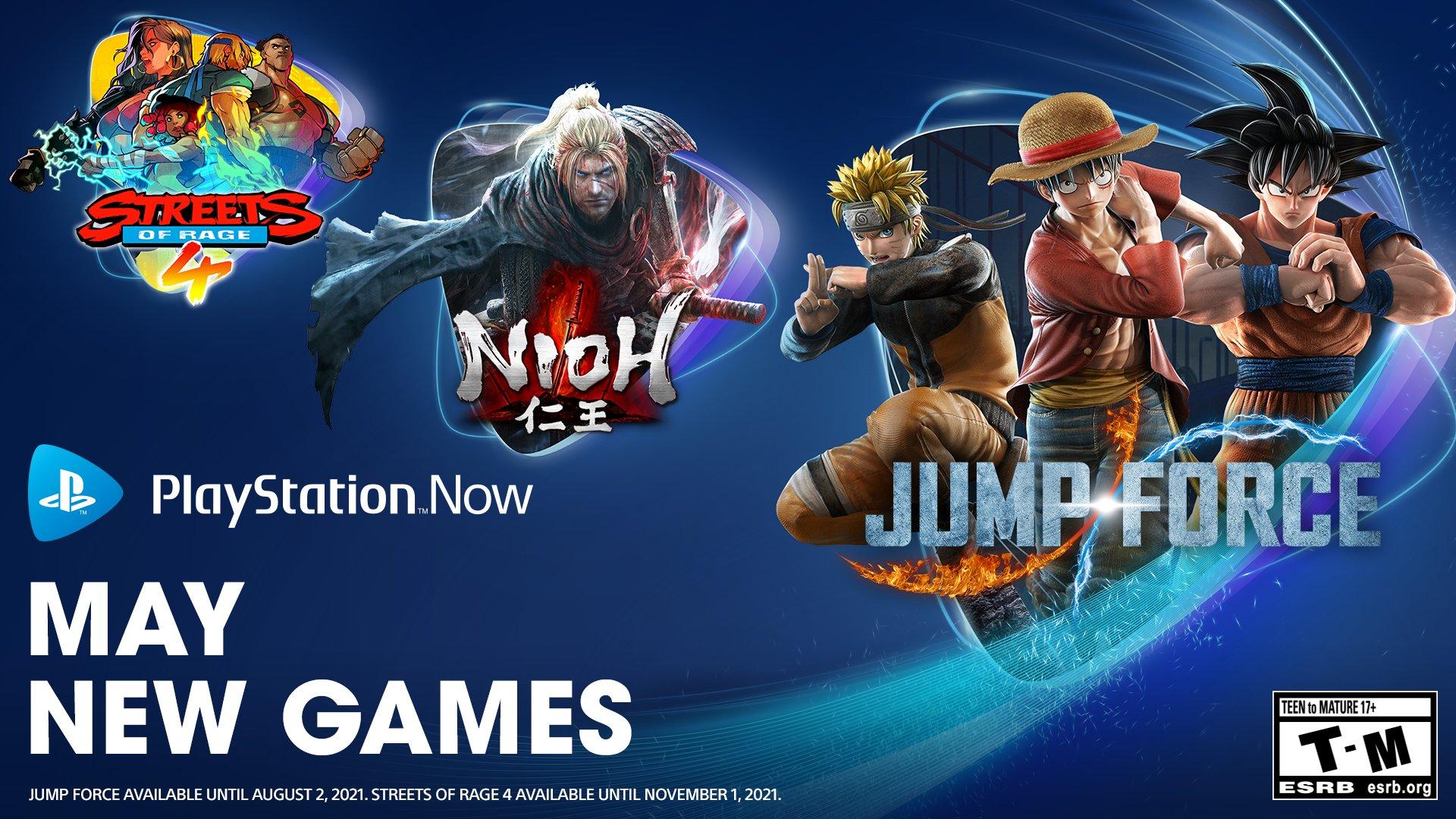 PS Now公布五月阵容《仁王》《Jump大乱斗》《怒之铁拳4》