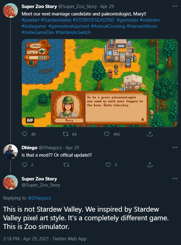 这款游戏被指抄袭《星露谷物语》 开发者下场开喷