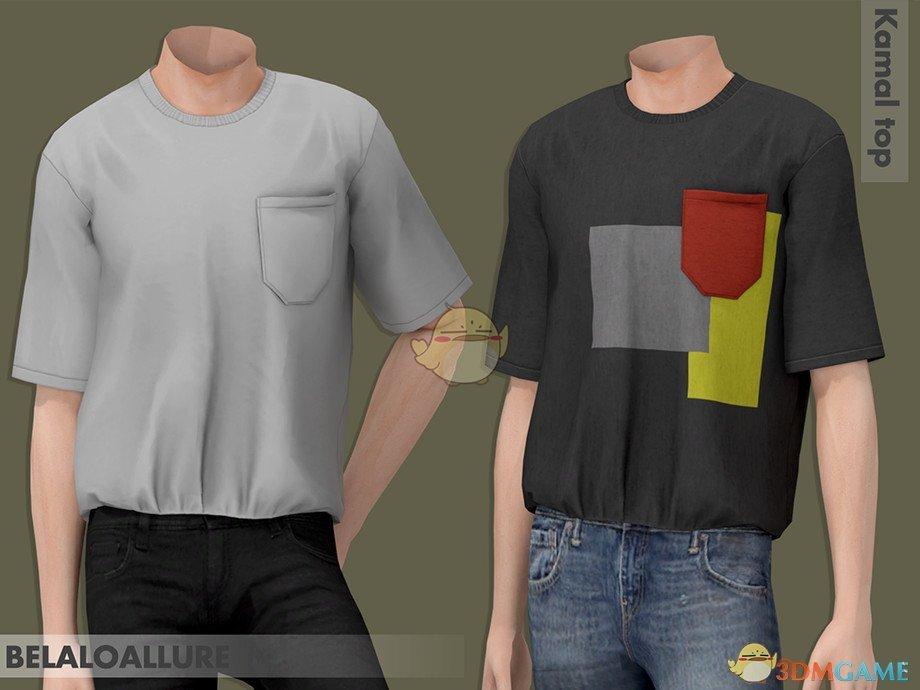《模拟人生4》男士简洁方口袋上衣MOD
