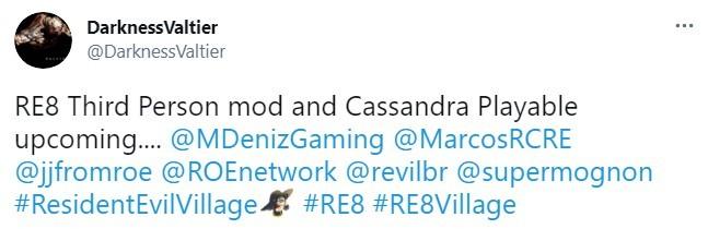 《生化危机8》第三人称MOD已经在做了 马上有可玩版