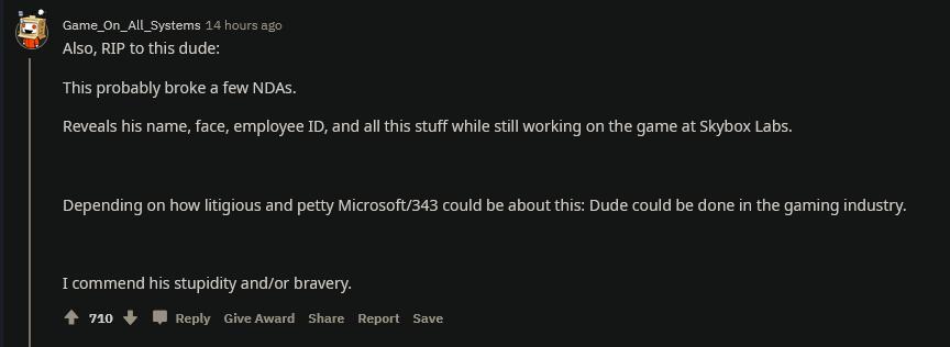 前343员工B站视频引外国网友热议 《光环:无限》开发进程困难重重