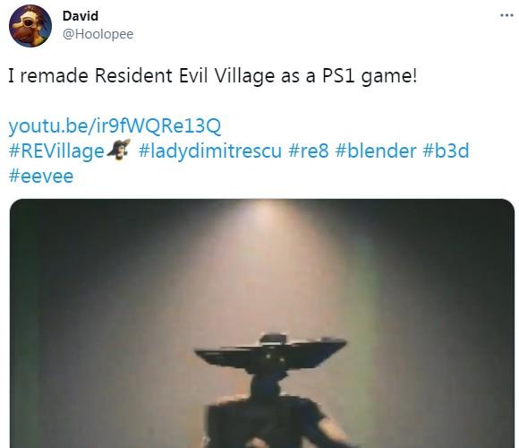 高玩火速出手 打造PS1版《生化危机8:村庄》别有风味
