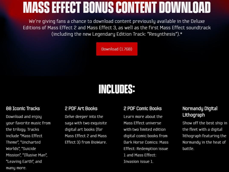 免费领取《质量效应2/3》数字版特典 含游戏原声漫画