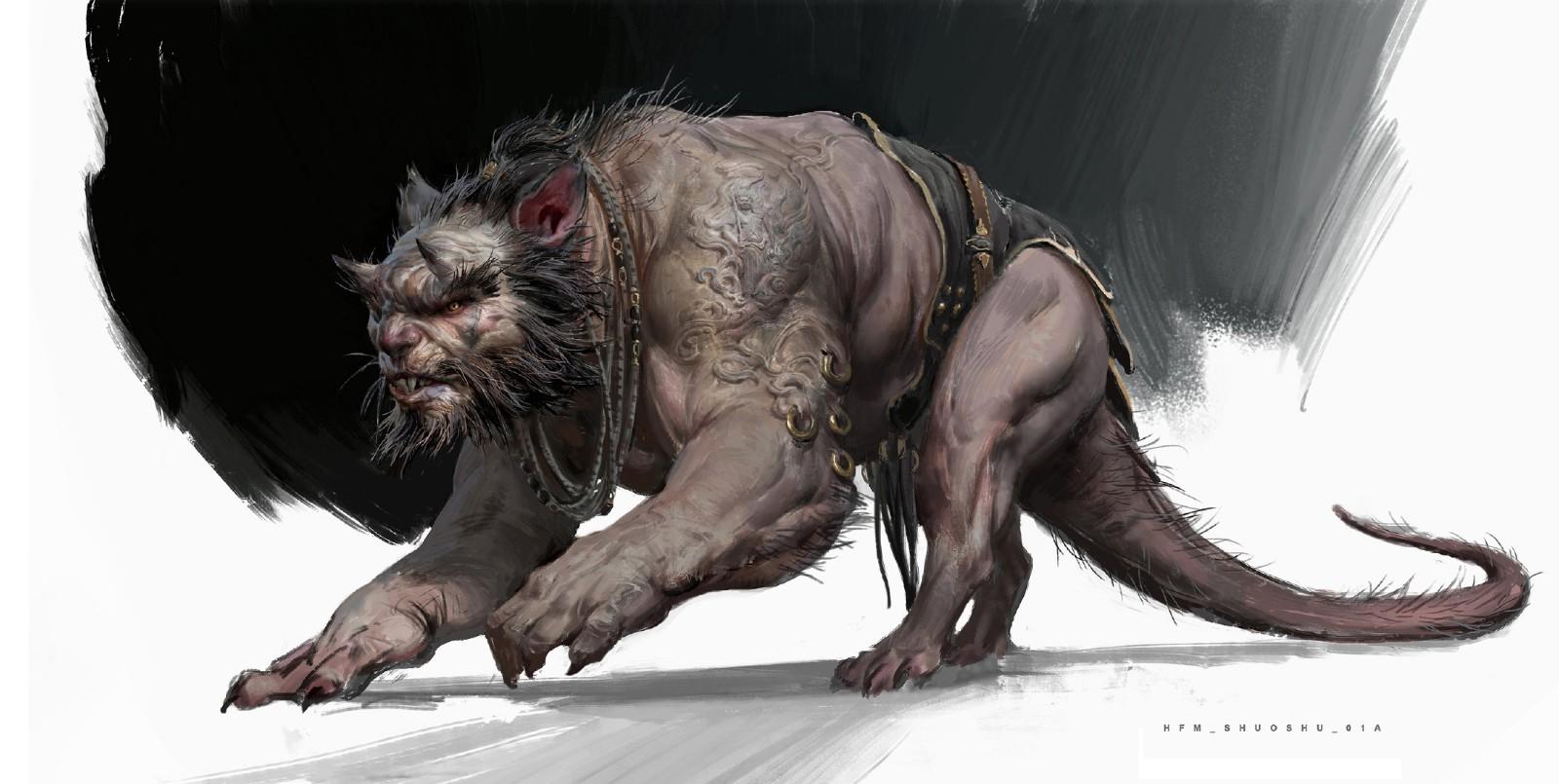 《黑神话:悟空》鼠精原画艺术图 两只老鼠跑得快