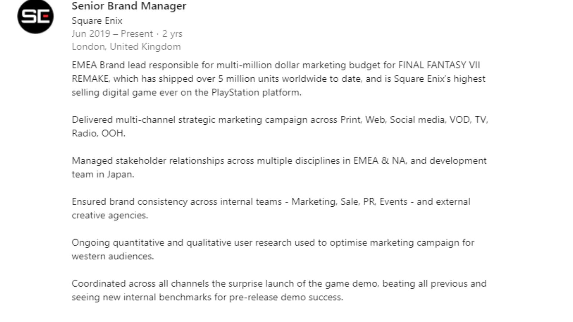 最终幻想7:重制版 预算高达1.4亿美元