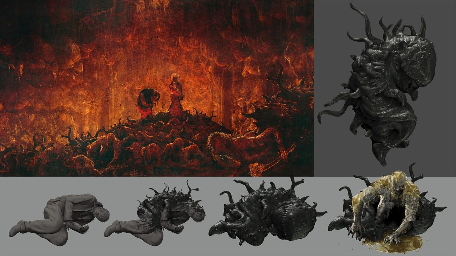 《生化危机8》概念设计图欣赏 吸血鬼母女好棒呀!
