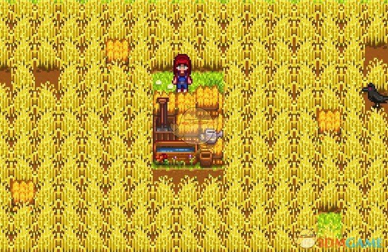 《星露谷物语》可建造的季节性干草堆MOD