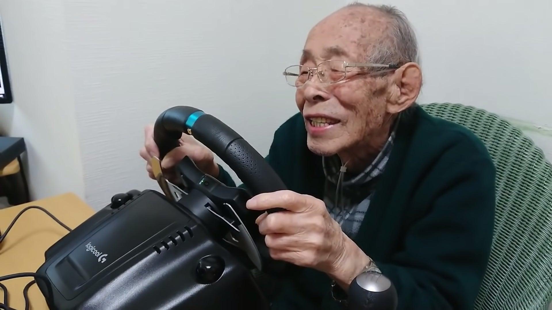 比博人传燃多了 日本93岁老玩家虚拟赛道狂飙
