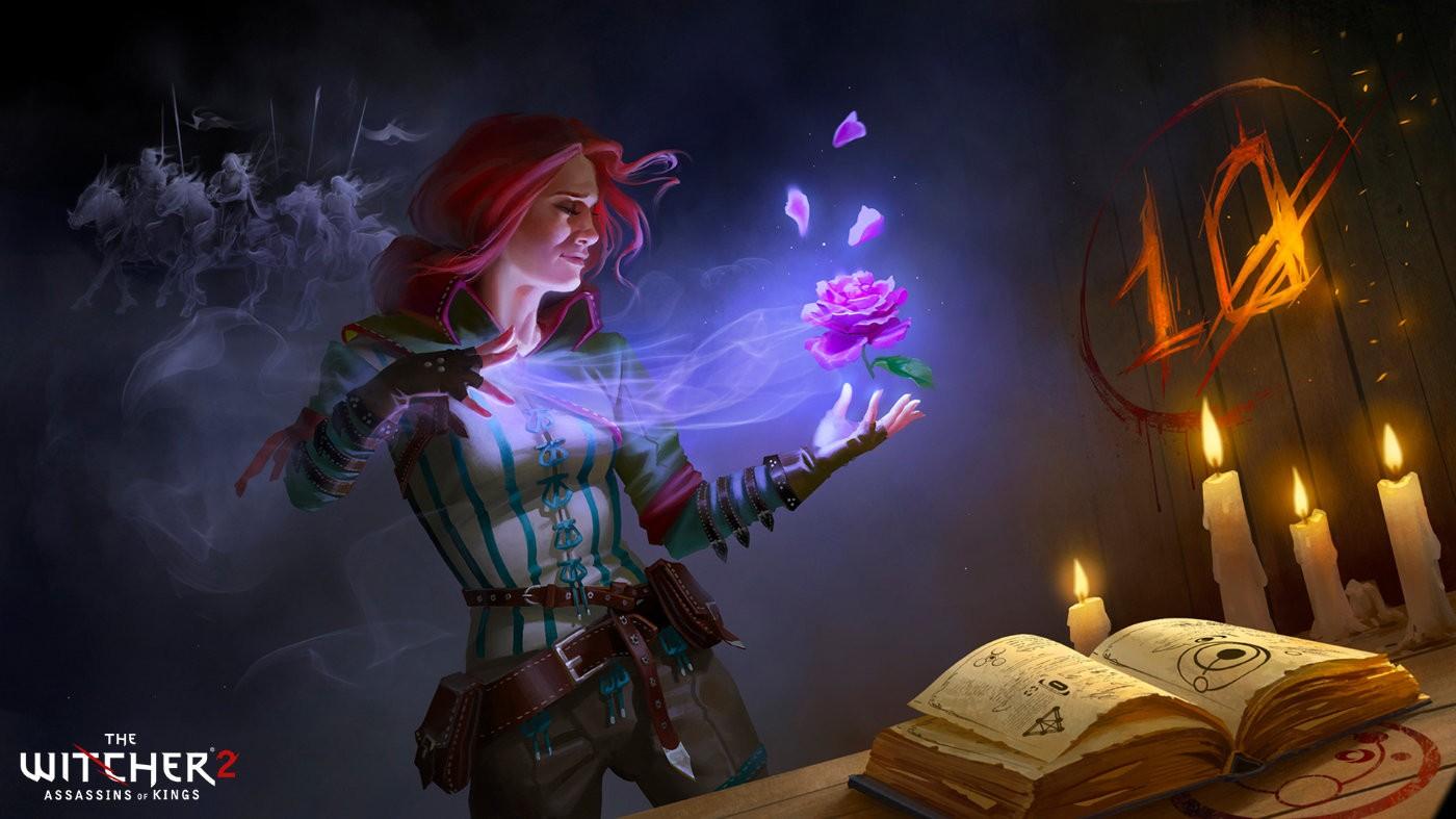 庆祝《巫师2》十周年 官方公开标志角色艺术绘图