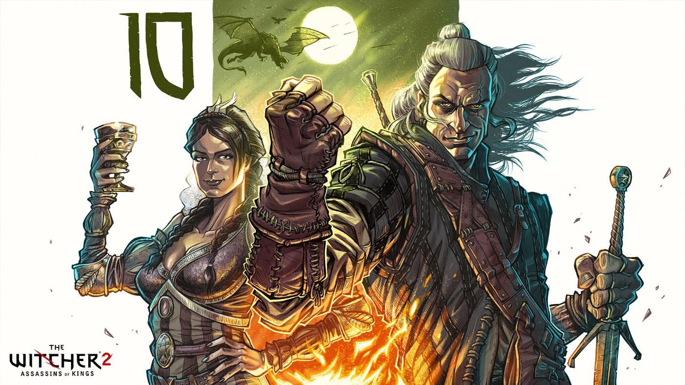 慶祝《巫師2》十周年 官方公開標誌角色藝術繪圖
