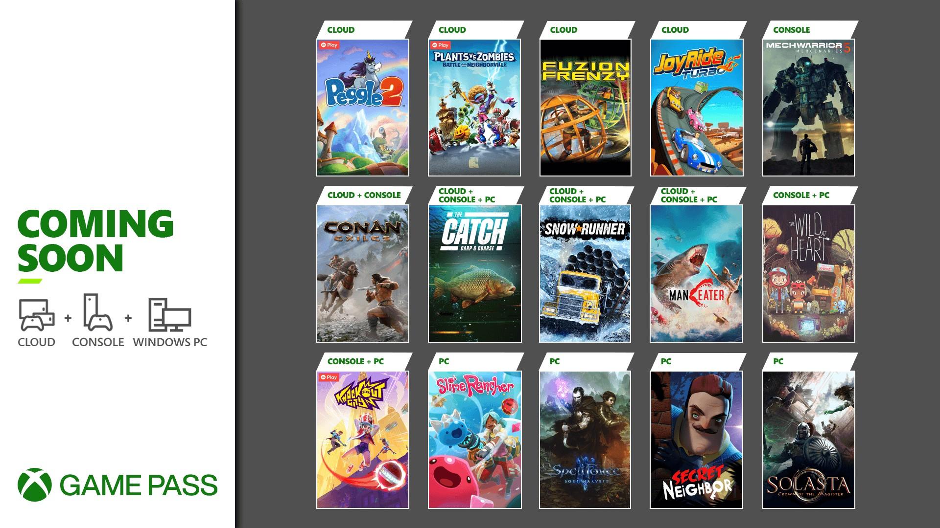 XGP五月新增游戏:《雪地奔驰》《幻幻球2》《植物大战僵尸:邻里之战》等