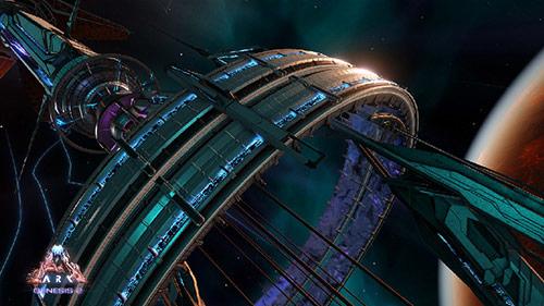 《方舟:生存进化》曝光新DLC创世飞船地图和四大生物群落
