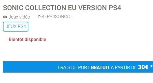 法国零售商爆料PS4全新《索尼克合集》即将发售