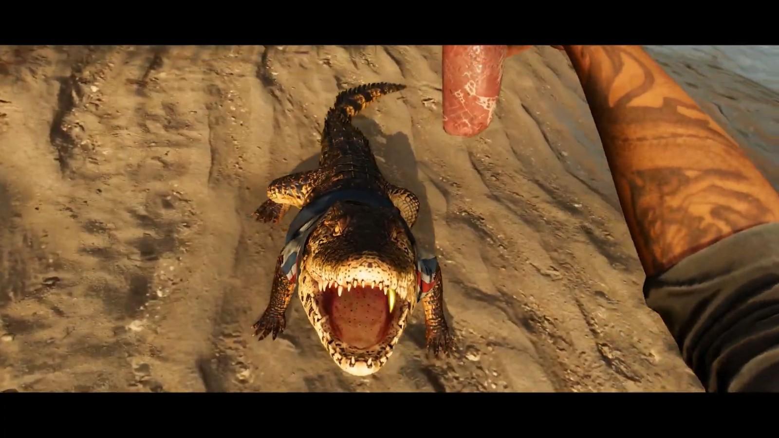 《孤岛惊魂6》首个演示泄露 你可以养鳄鱼攻击敌人
