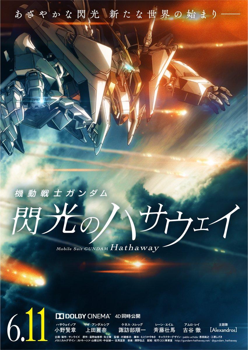 官方正式确认《机动战士高达:闪光的哈萨维》6月11日在日本上映
