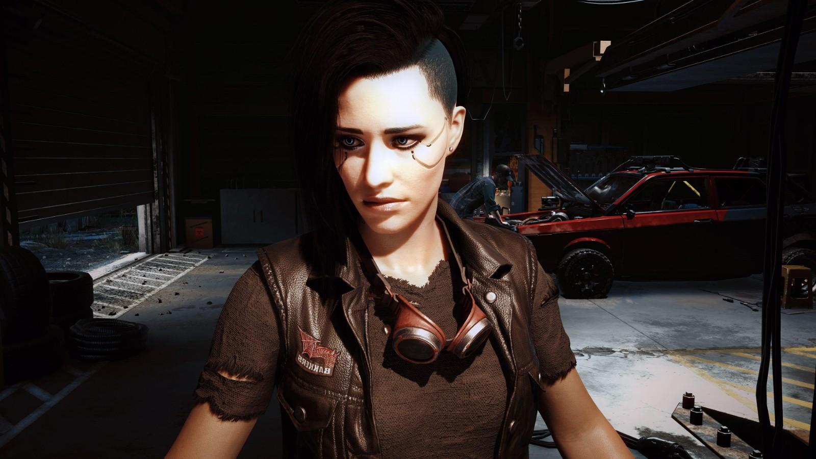 《赛博朋克2077》8K截图欣赏 朱迪侧颜太美了