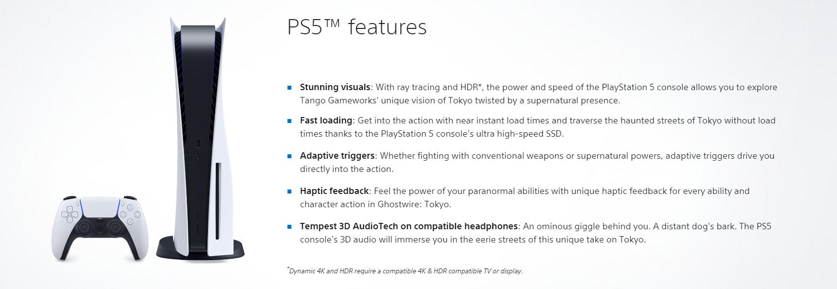 《幽灵线:东京》PS5支持光追/动态4K和HDR
