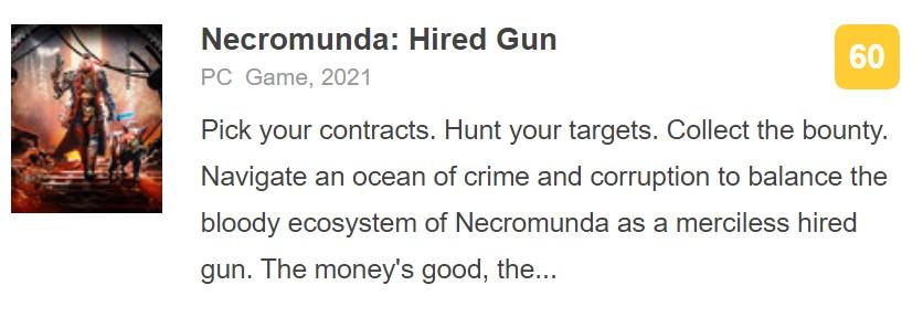 《涅克罗蒙达:赏金猎人》IGN 5分:BUG超多AI脑残