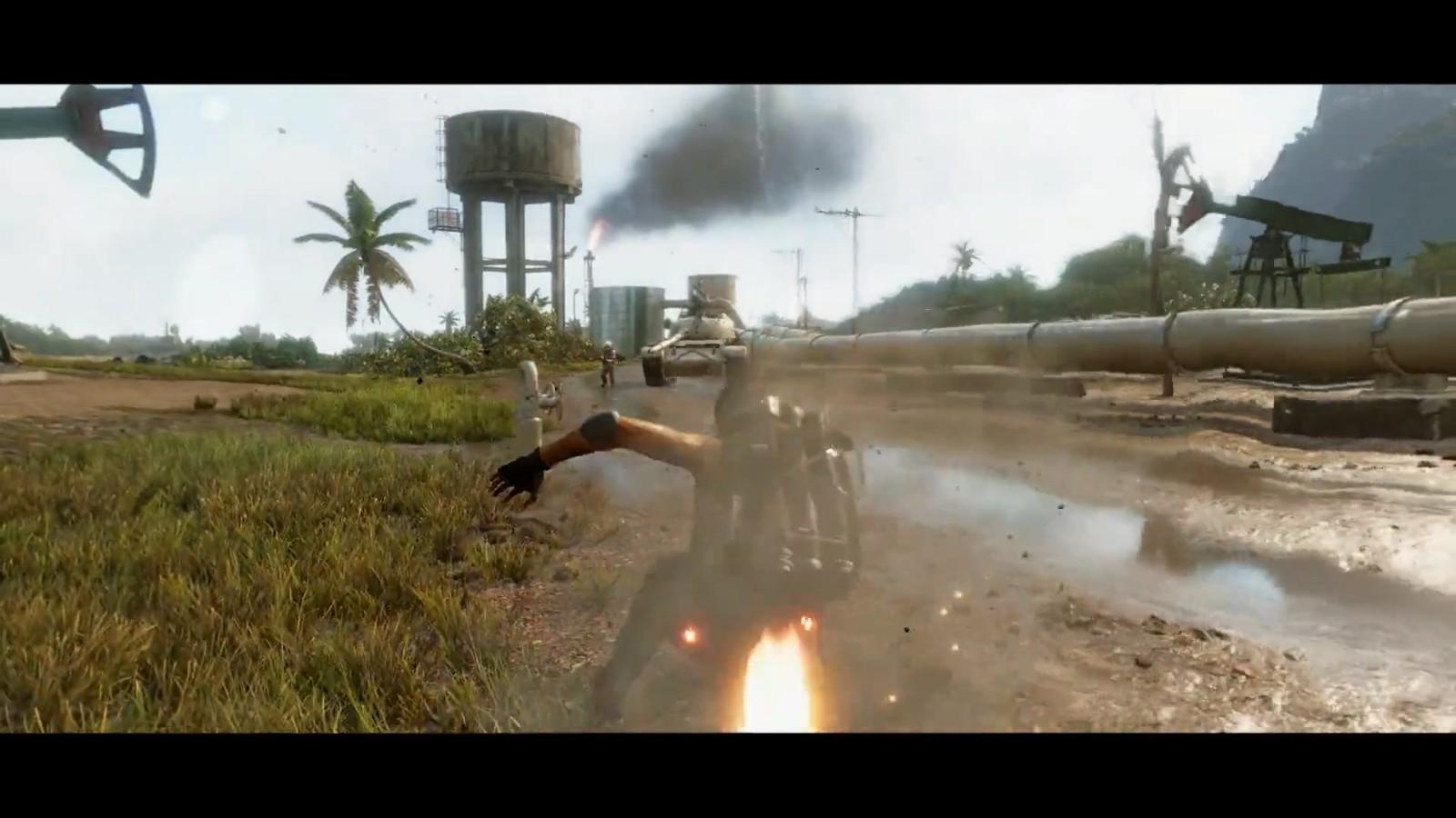 《孤岛惊魂6》有第三人称 但只在特定场景下支持