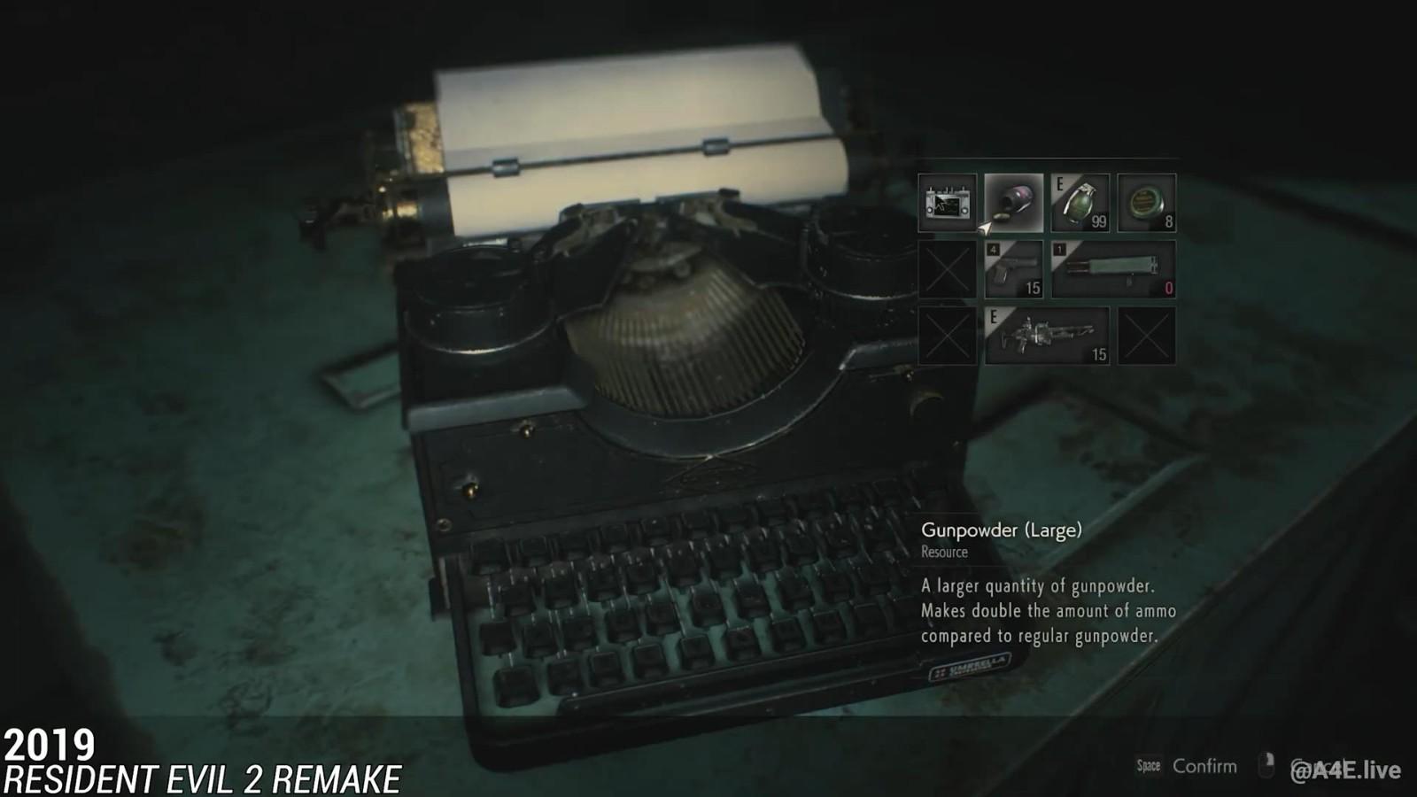 《生化危机》系列存档点集锦 回忆满满的打字机